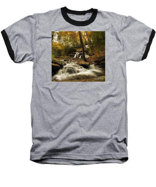 Trahlyta Falls Baseball T-Shirt by Barbara Bowen