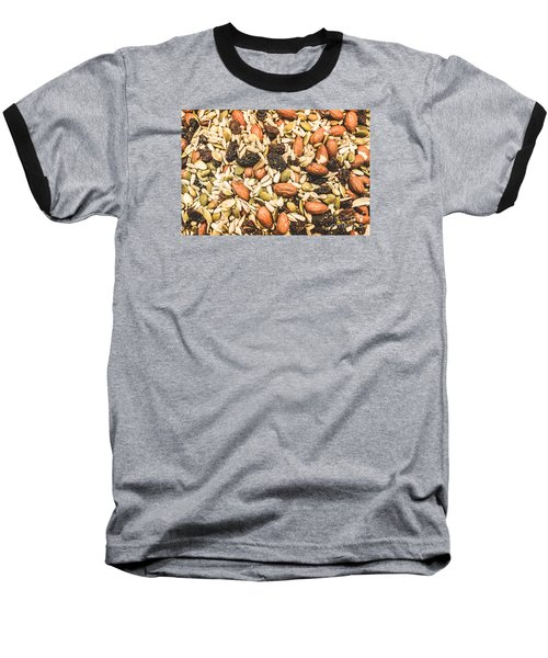 Baseball T-Shirt featuring the photograph Trail Mix Background by Jorgo Photography - Wall Art Gallery