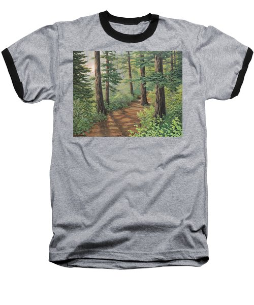 Trail Of Green Baseball T-Shirt
