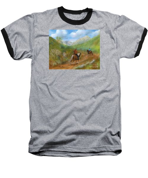 Trail Ride In Sabino Canyon Baseball T-Shirt