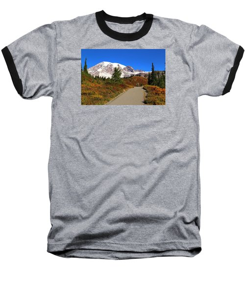 Baseball T-Shirt featuring the photograph Trail To Myrtle Falls by Lynn Hopwood