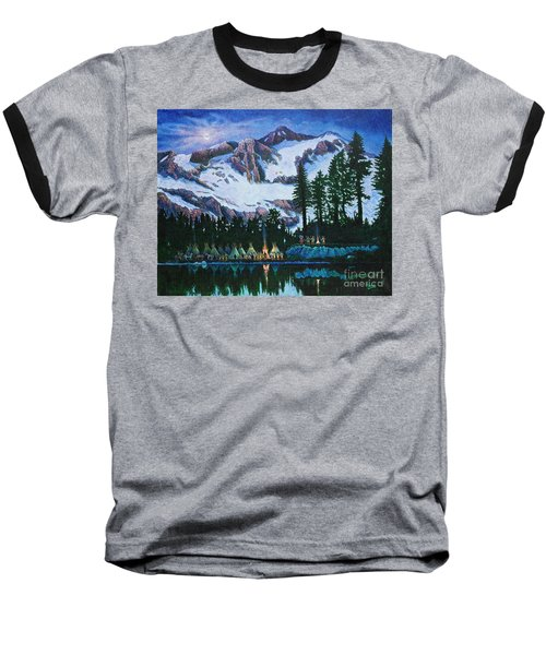 Trails West II Baseball T-Shirt by Michael Frank