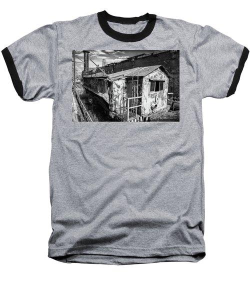 Train 6 In Black And White Baseball T-Shirt