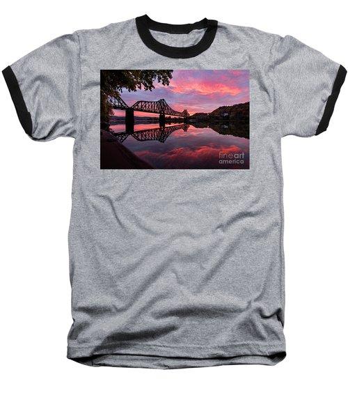 Train Bridge At Sunrise  Baseball T-Shirt
