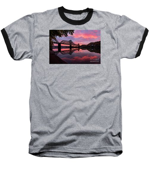 Train Bridge At Sunrise  Baseball T-Shirt