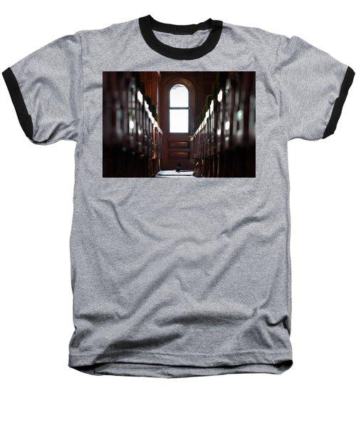 Train Car Interior Baseball T-Shirt by Joseph Skompski