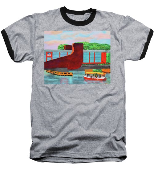Train Over The New River Baseball T-Shirt