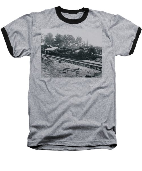 Train Derailment Baseball T-Shirt