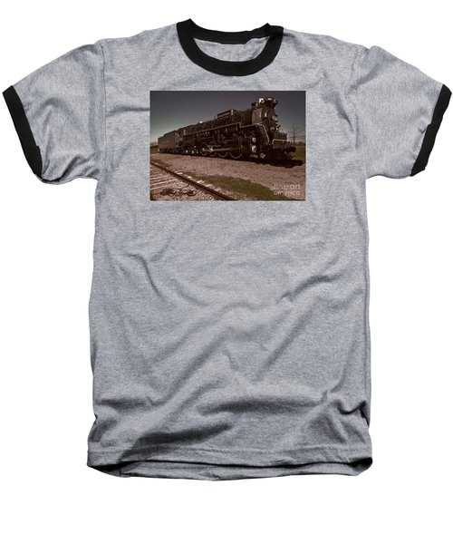 Train Engine # 2732 Baseball T-Shirt by Melissa Messick