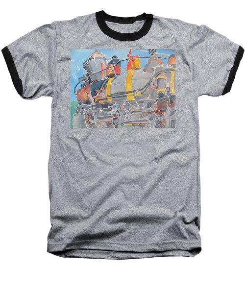 Train Engine Baseball T-Shirt