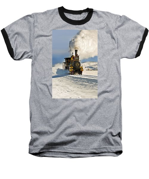 Train In Winter Baseball T-Shirt