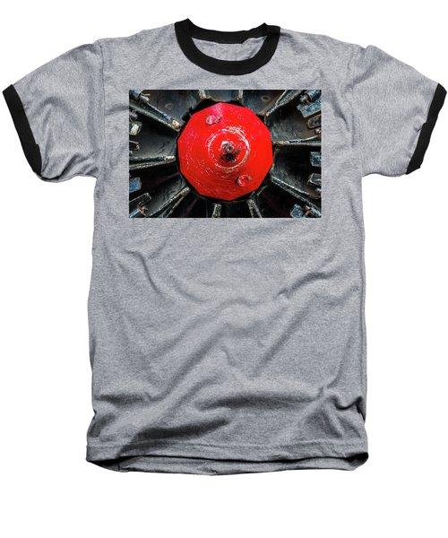 Train Prop Center Baseball T-Shirt