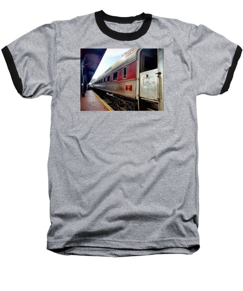 Train Station Baseball T-Shirt