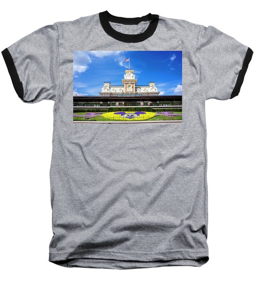 Baseball T-Shirt featuring the photograph Train Station by Greg Fortier