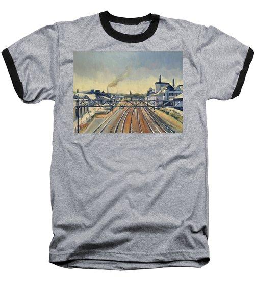 Train Tracks Maastricht Baseball T-Shirt