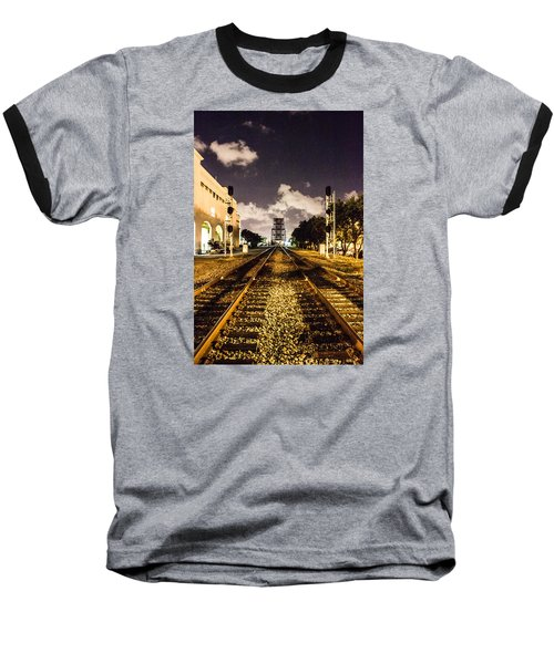 Train Tracks Baseball T-Shirt