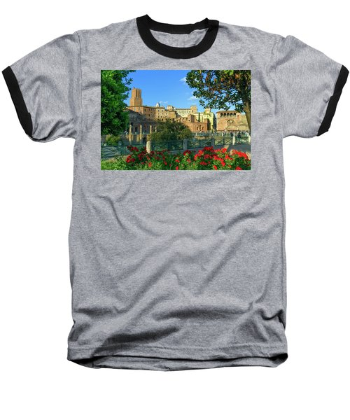 Trajan's Forum, Traiani, Roma, Italy Baseball T-Shirt by Elenarts - Elena Duvernay photo