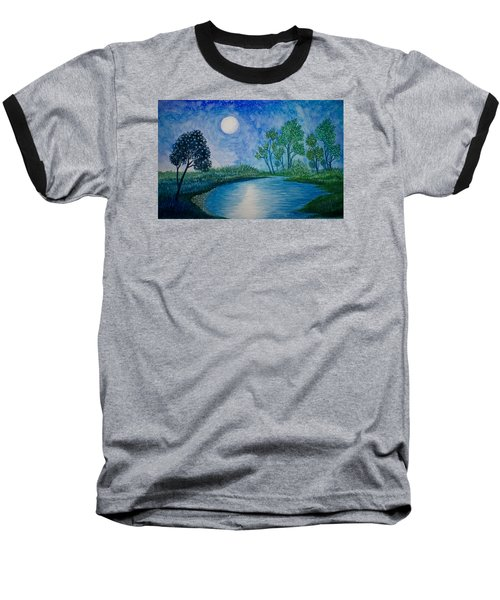 Tranquil Baseball T-Shirt by Adria Trail
