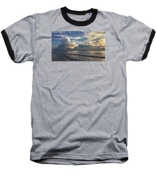 Tranquil Fisherman Baseball T-Shirt