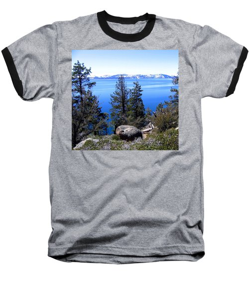Tranquil Lake Tahoe Baseball T-Shirt