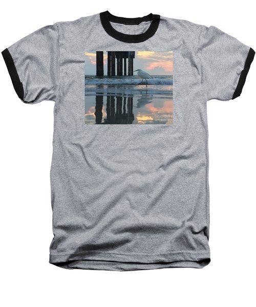 Tranquil Reflections Baseball T-Shirt by LeeAnn Kendall