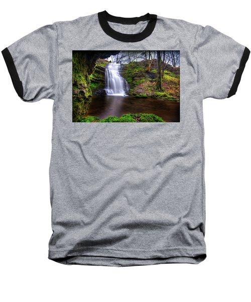 Tranquil Slow Soft Waterfall Baseball T-Shirt