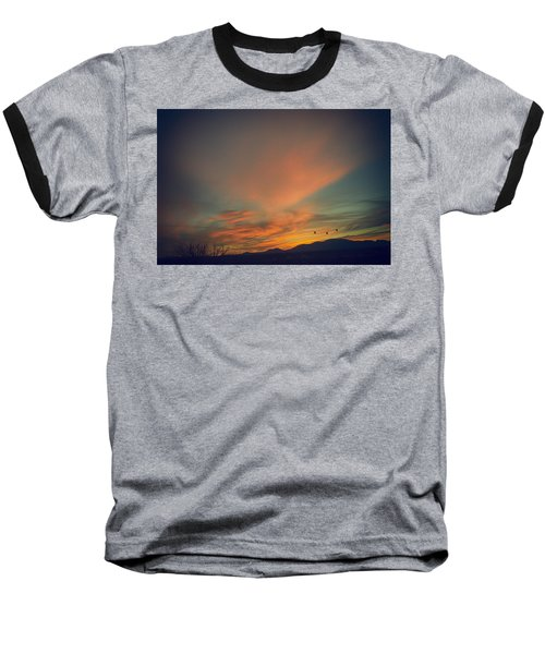 Tranquil Sunset Baseball T-Shirt