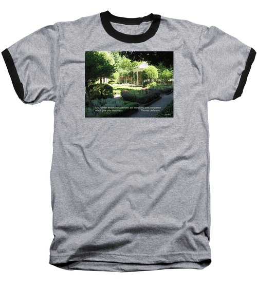 Tranquility And Occupation Baseball T-Shirt by Deborah Dendler