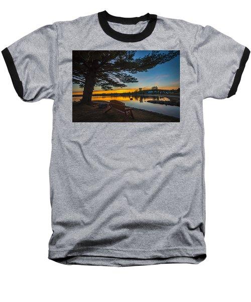 Tranquility At Sunset Baseball T-Shirt