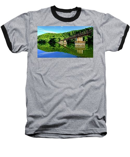 Tranquility At The James River Footbridge Baseball T-Shirt