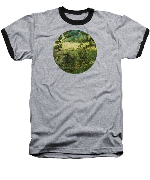 Tranquility Baseball T-Shirt by Mary Wolf