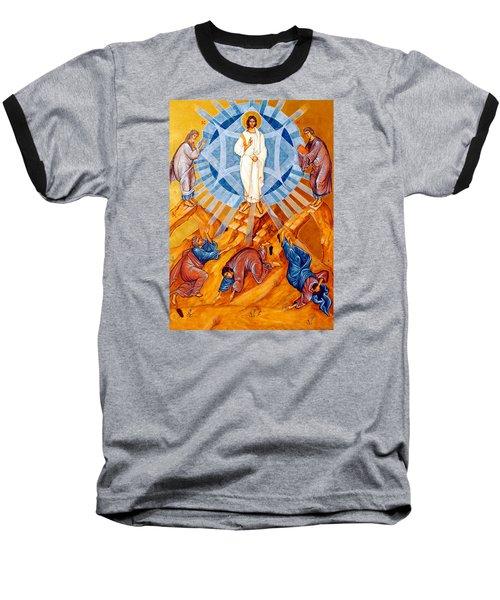 Transfiguration Of Christ Baseball T-Shirt by Munir Alawi