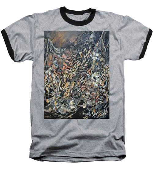 Baseball T-Shirt featuring the mixed media Transformation by Joanne Smoley