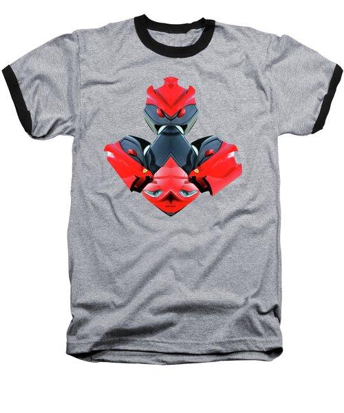 Transformer Car Baseball T-Shirt by Rafael Salazar