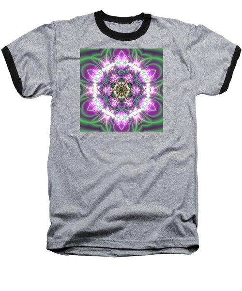 Transition Flower 6 Beats 3 Baseball T-Shirt by Robert Thalmeier