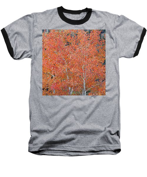 Baseball T-Shirt featuring the digital art Translucent Aspen Orange by Gary Baird