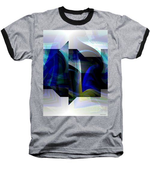 Geometric Transparency  Baseball T-Shirt by Thibault Toussaint