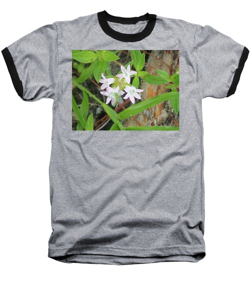 Transparent Flowers Baseball T-Shirt