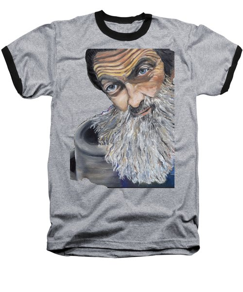 Popcorn Sutton Shines With Transparent Background -for T-shirts And Other Fabric Items- Moonshine Baseball T-Shirt