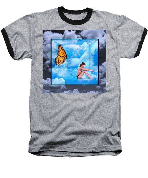 Trapped Butterfly Baseball T-Shirt