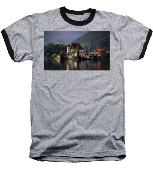 Baseball T-Shirt featuring the photograph Traunkirchen - Austria by Ellen Heaverlo