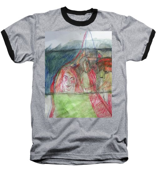 Travelers On The Train Baseball T-Shirt