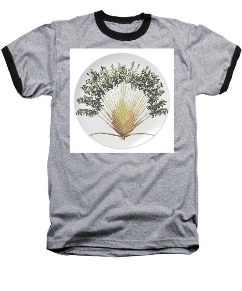 Travelers Palm Plate Baseball T-Shirt by R  Allen Swezey