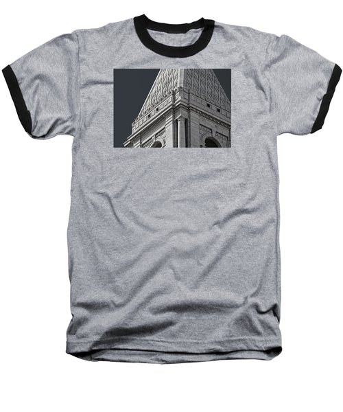 Travelers Tower Summit Baseball T-Shirt by Phil Cardamone