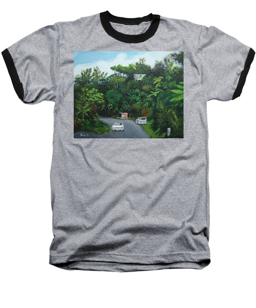 Traveling In Adjuntas Mountains Baseball T-Shirt by Luis F Rodriguez