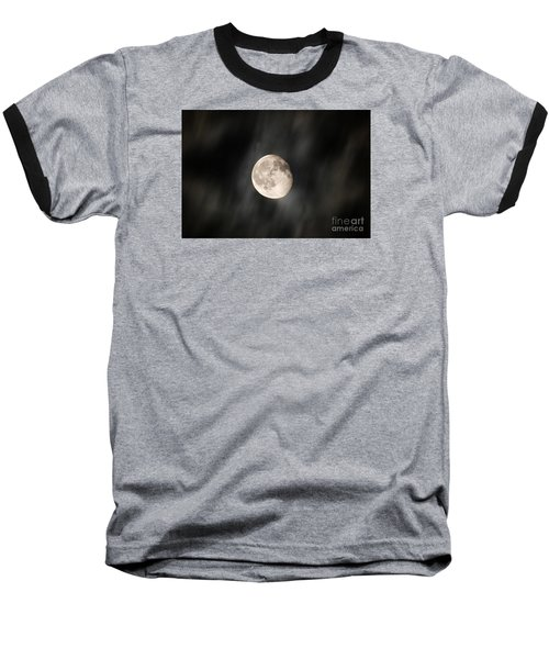 Travelling With Moon Baseball T-Shirt by Manjot Singh Sachdeva