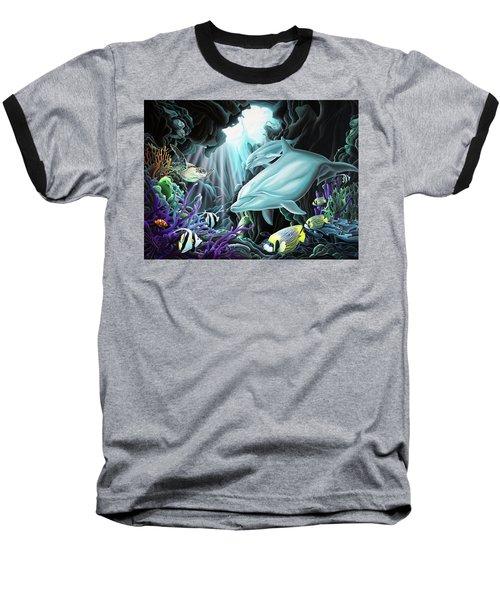 Treasure Hunter Baseball T-Shirt by William Love