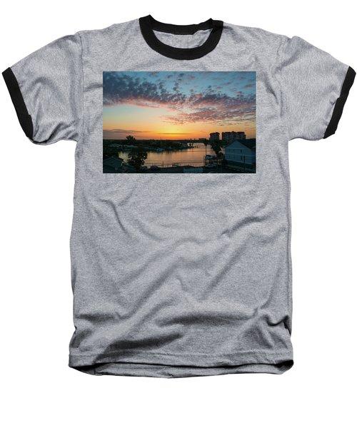 Treasure Island Sunrise Baseball T-Shirt by RC Pics