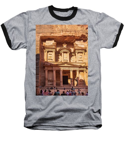 Baseball T-Shirt featuring the photograph Treasury Of Petra In Color by Mae Wertz