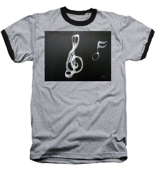 Treble Clef Baseball T-Shirt